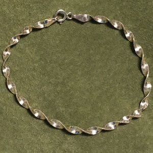 Sterling Silver Twisted Ribbon Bracelet
